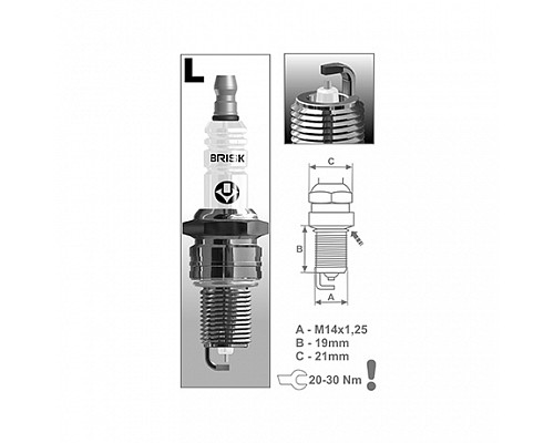 BRISK свеча зажигания LR15YS-9 N (ВАЗ) газ.двиг.