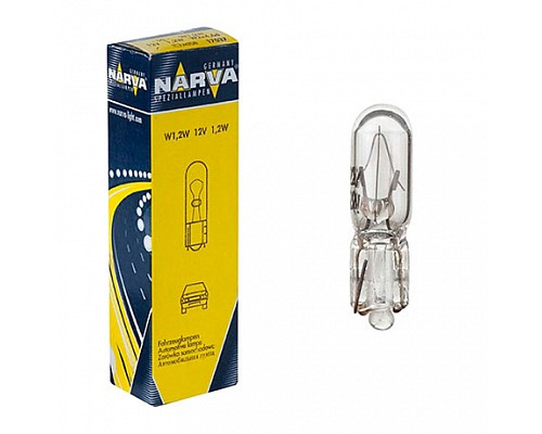 Автолампа NARVA W1.2W 17037 (w2*4.6d) 12V 10шт