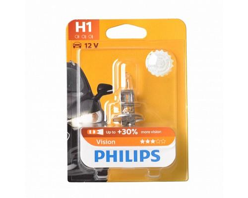 Автолампа PHILIPS H1 (55) 12258PRB1 P14.5s+30% 12V блистер