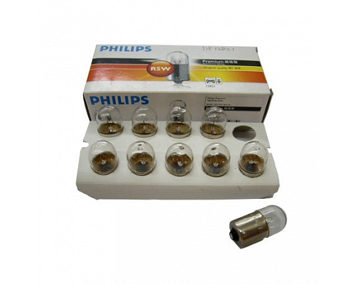 Автолампа PHILIPS R5W 12821 H1 (BA15s) 12V /10/200 HIT 10шт