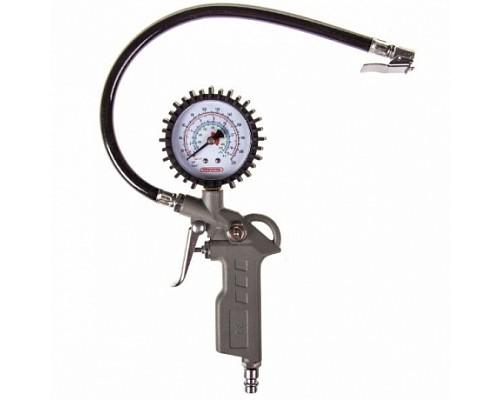 Пистолет для накачивания шин SKYWAY с манометром 14,97 АТМ быстросъемное соединение