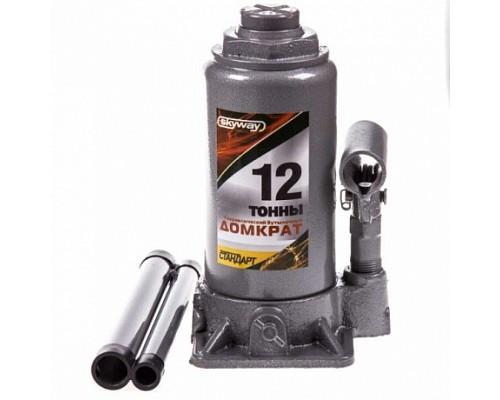 Домкрат гидравлический бутылочный 12т h 200-385мм SKYWAY STANDART