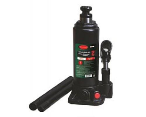 Домкрат гидравлический RF-T90204 бутылочный с клапаном 2т (выс.подъема 181-345мм)+ ремкомплект ROCK