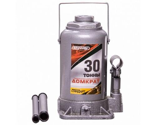Домкрат гидравлический бутылочный 30т h 235-445мм SKYWAY STANDART