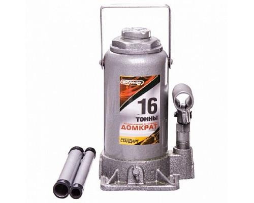 Домкрат гидравлический бутылочный 16т h 210-395мм SKYWAY STANDART