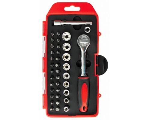 PM4160 Набор бит с трещеткой 38 предметов 38pc SOCKET BIT TOOL SET