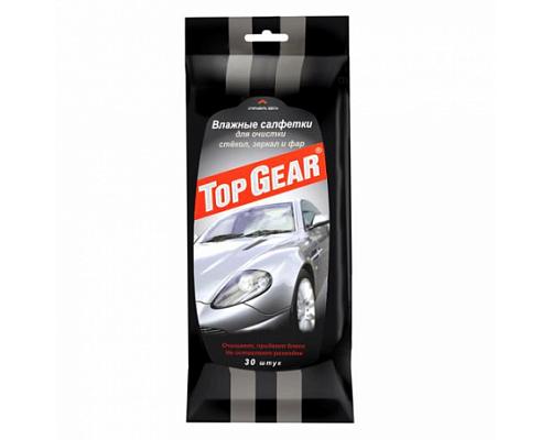 Салфетки TOP Gear для стекол и зеркал влажные 1/32шт