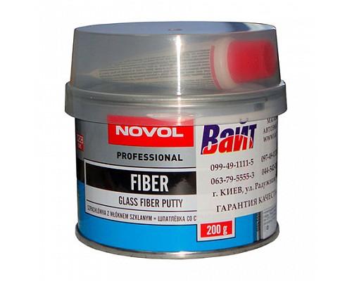 NOVOL Шпатлевка стекловолокно FIBER 0.2 кг./24шт. 1220
