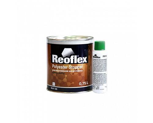 Reoflex - Шпатлевка жидкая Spray (Комплект 0,75л+0,05л) 1шт./6шт.