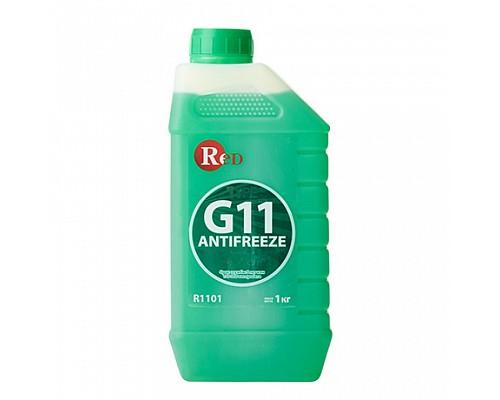 R1101 Антифриз, готовый к применению G11 ЗЕЛЕНЫЙ 1кг RED 1ш./10шт
