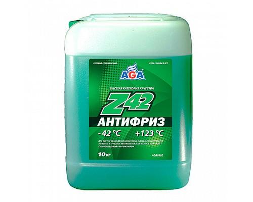 AGA050Z  Антифриз,готовый к прим.зеленый -42С 10кг./1шт.