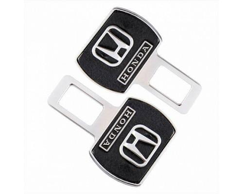 Заглушка-блокировка замка ремня безопасности SW Черный/хром 90*55мм 2шт Honda