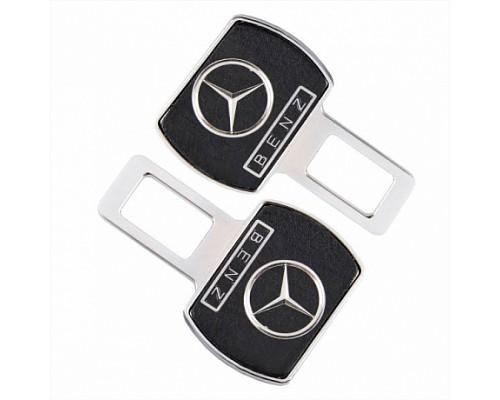 Заглушка-блокировка замка ремня безопасности SW Черный/хром 90*55мм 2шт Mercedes