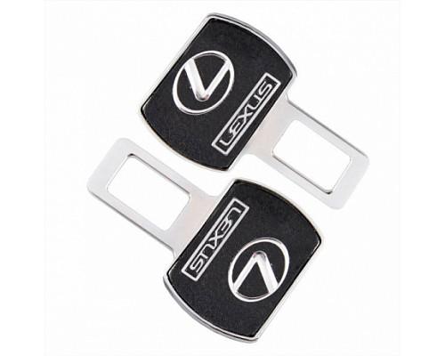 Заглушка-блокировка замка ремня безопасности SW Черный/хром 90*55мм 2шт Lexus