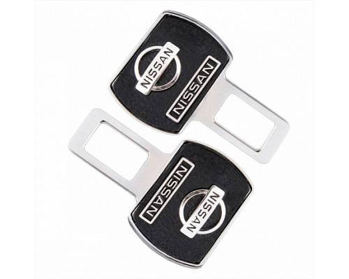 Заглушка-блокировка замка ремня безопасности SW Черный/хром 90*55мм 2шт Nissan