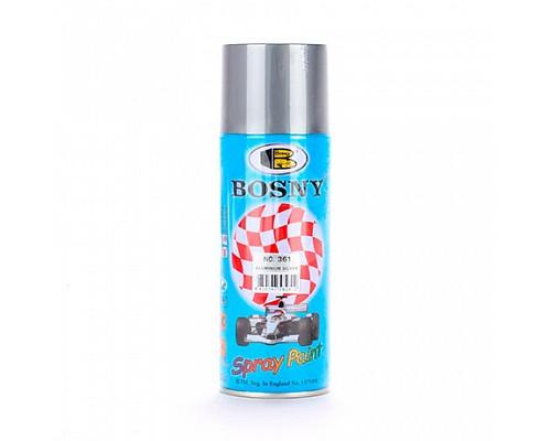 BOSNY Краска-аэрозоль 361 металлик серебро алюминий 400мл 1шт./12шт.
