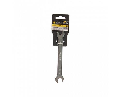 Ключ рожковый 10x12мм ER-51012 (Chrome vanadium) PRO ЭВРИКА